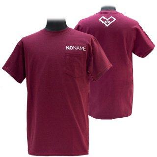 XE2019 NO NAME ポケットTシャツ バックプリント(バーガンディー)ギルダン<br>【N/N】