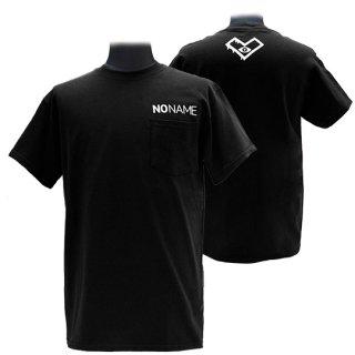 XE2019 NO NAME ポケットTシャツ バックプリント(ブラック)ギルダン<br>【N/N】