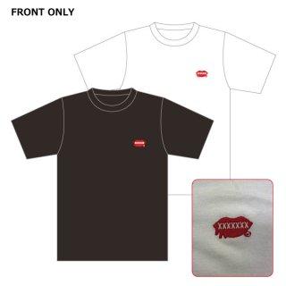 【2021】<br>新ロゴ 刺繍Tシャツ ブラック/ホワイト<br>(ボディ/ギルダン) (S/M/L/XL)