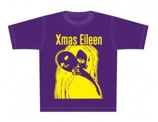 ロゴTシャツ(紫x黄)