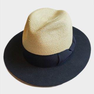 LINEN BRAID / WOOL BRIM HAT
