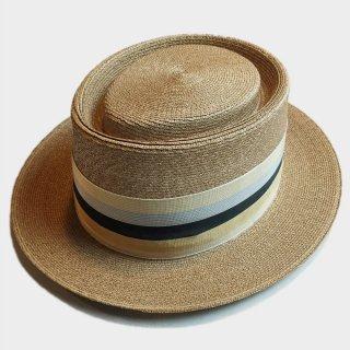 50's BACK BOW STRAW HAT(58CM)