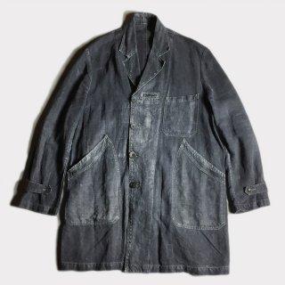 20's BLACK LINEN MAQUIGNON COAT