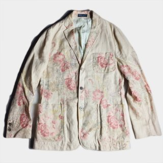 LINEN FLOWER TAILORED JKT (38)