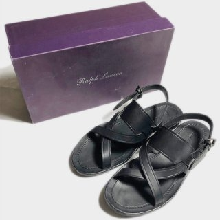LEATHER SANDAL(PURPLE L.-27cm)