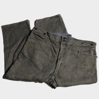 40's FRENCH S&P PIQUE TROUSERS