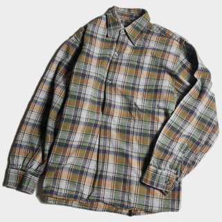 60's FRENCH NEL CHECK SMOCK S.