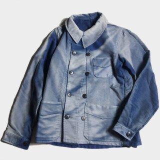 40's BLUE MOLESKIN DOUBLE B.JKT