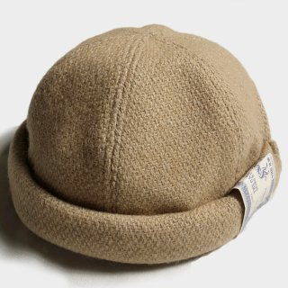 TWEED ROLL CAP (BEIGE)