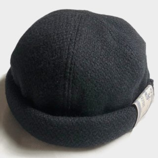 TWEED ROLL CAP (BLACK)