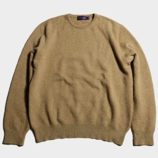 CASHMERE/CAMEL KNIT(PURPLE.L-L)