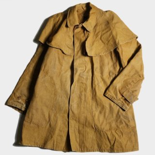 30's FRENCH LINEN HUNTING CAPE C(54)