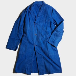 70's FRENCH BLUE WORK COAT(3)