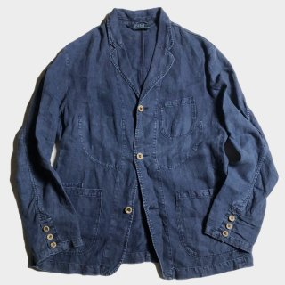 INDIGO LINEN TAILORED JKT(XL)