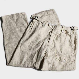 LINEN GURKHA PANTS(36)