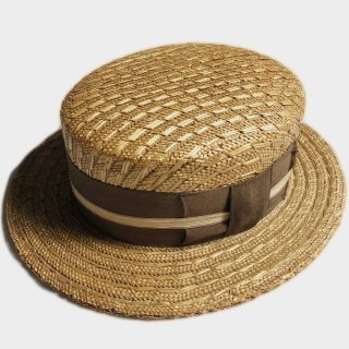 20's UNUSUAL BOATER HAT(58.5CM)