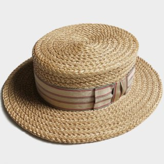 20's UNUSUAL BOATER HAT(59CM)