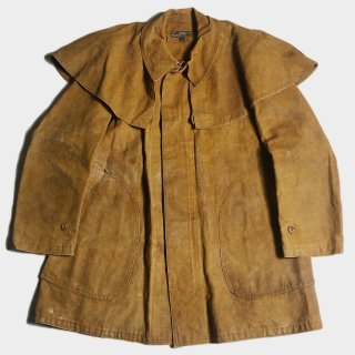 30's FRENCH LINEN HUNTING CAPE C(52)