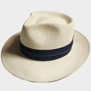 50's UNUSUAL STRAW HAT(57.5CM)