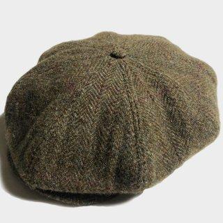 HARRIS TWEED NEWS BOY CAP(L)