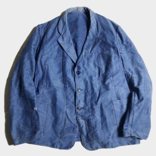 50's F.BLUE MOLESKIN LAPEL JKT