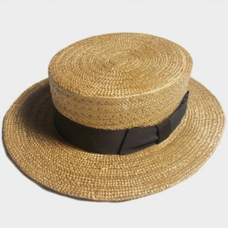 30's UNUSUAL BOATER HAT(57.5CM)