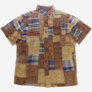 PATCHWORK S/S SHIRTS(M)