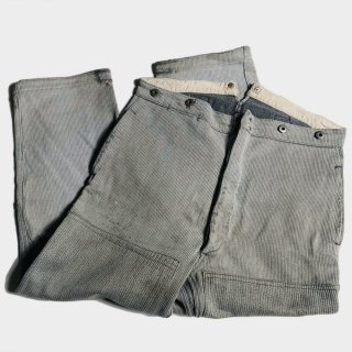 30's PIQUE BUCKLE BACK TROUSERS
