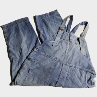 50's FRENCH BLUE TWILL OVERALL