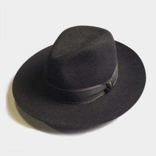 RABBIT FUR WIDE BRIM HAT