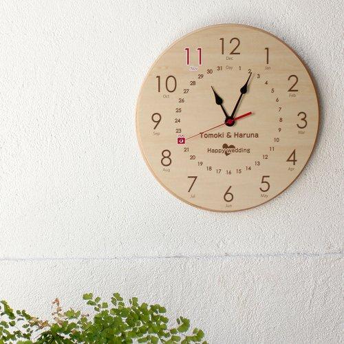 スワロフスキーメモリアル時計 丸形メープル