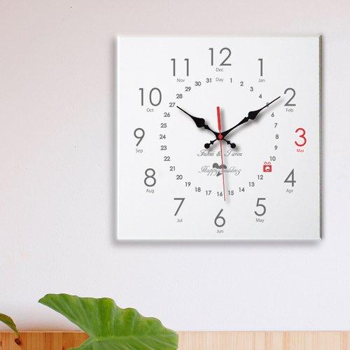 スワロフスキーメモリアル時計 角形ホワイト