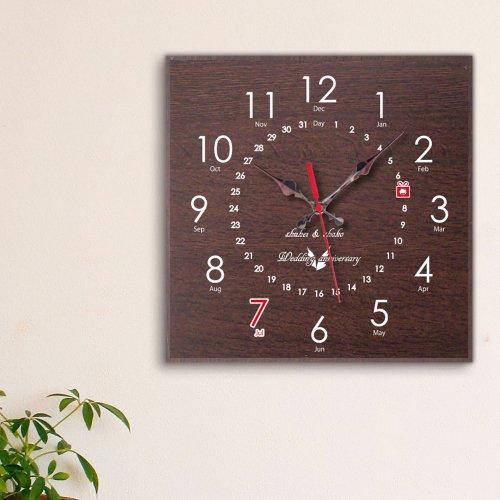 スワロフスキーメモリアル時計 角形ブラウン