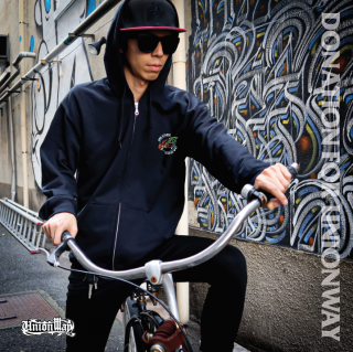 【DONATION FOR UNIONWAY】 Zip-up hoodie(BLACK)+T-Shirt