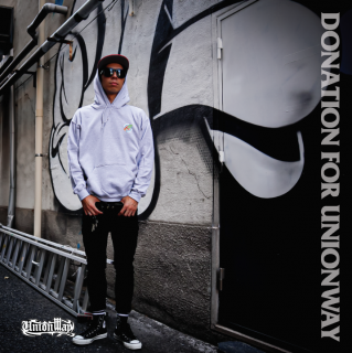 【DONATION FOR UNIONWAY】 Pullover hoodie(GRAY)+T-Shirt