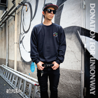 【DONATION FOR UNIONWAY】  Crew Sweat(BLACK)+T-Shirt