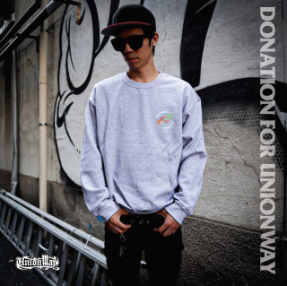 【DONATION FOR UNIONWAY】 Crew Sweat(GRAY)+T-Shirt