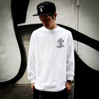 【BAD HANDS x NAUGHTY】 Dogtown Long Sleeve(White)