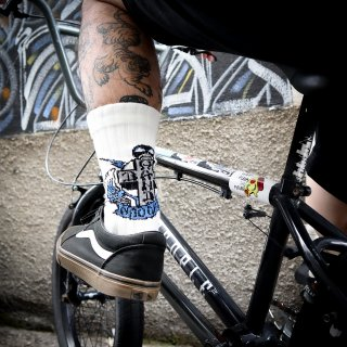 【BAD HANDS x NAUGHTY】Socks(White)