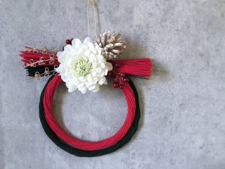 水引クリスマス・お正月飾り(赤×緑)