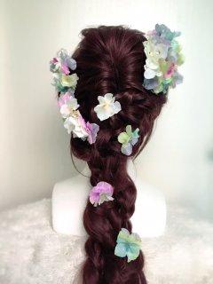 パステルカラーのヘッドドレスセット
