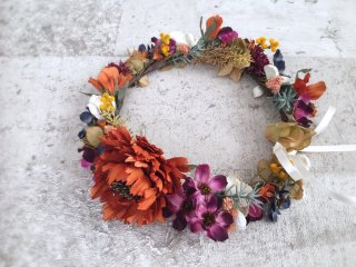 オータムカラーの花冠