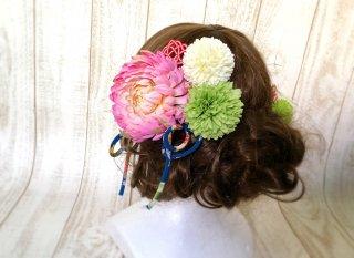 水引の和装髪飾りセット(ピンク)