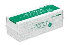 エルヴェール 小判 ペーパータオル 200枚×42袋 シングル エコドライ (1ケース)