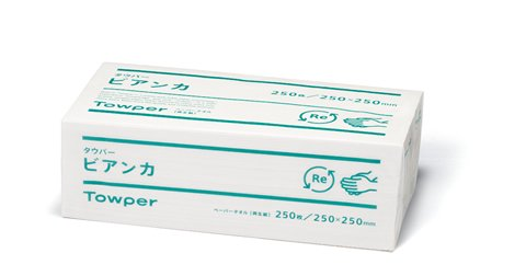 タウパービアンカM ペーパータオル 200枚×25袋 シングル(1ケース)
