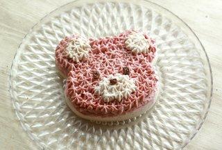 ピンクベアRawケーキ