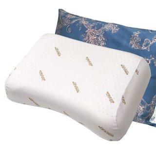 ラテシア ロイヤル 100% 天然ラテックス枕 高反発 肩こり型 【枕カバー付き】