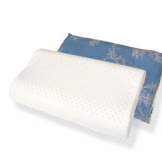 ラテシア ロイヤル 100% 天然ラテックス 高反発 子供枕【枕カバー付き】