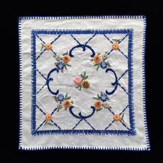 フランスアンティーク 刺繍テーブルセンター