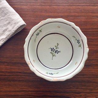フランスアンティーク ファイヤンス焼き 絵付け皿